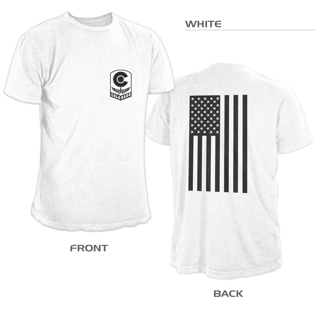 Colorado Military Flag Shirt – White