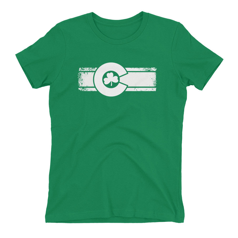 Women's St. Patrick's Day Colorado Flag Shirt