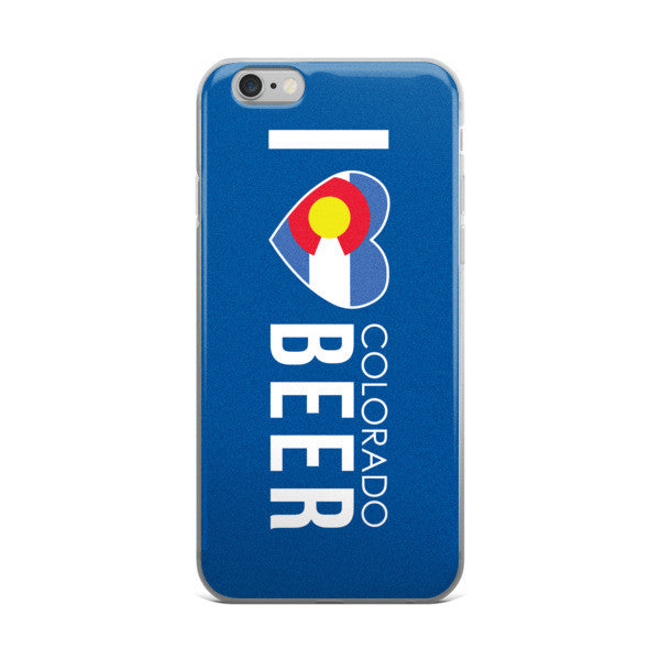 I Love Colorado Beer iPhone Case