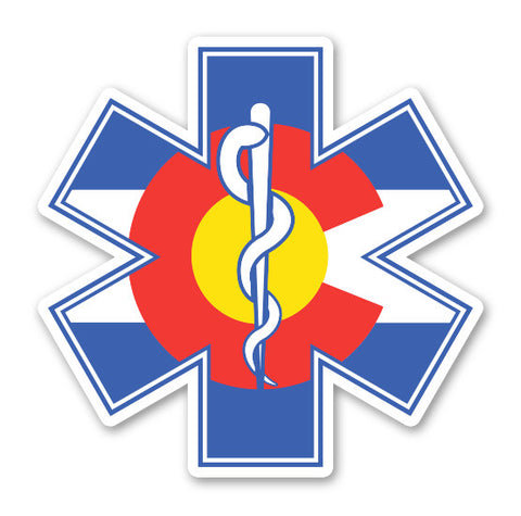 "5"" Colorado Flag Medic Sticker"