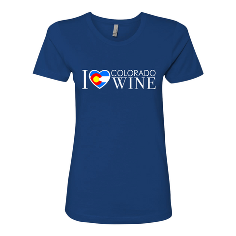I Love Colorado Wine Shirt — Women's