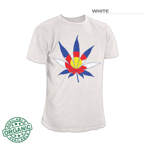 Colorado Flag Marijuana Leaf Shirt