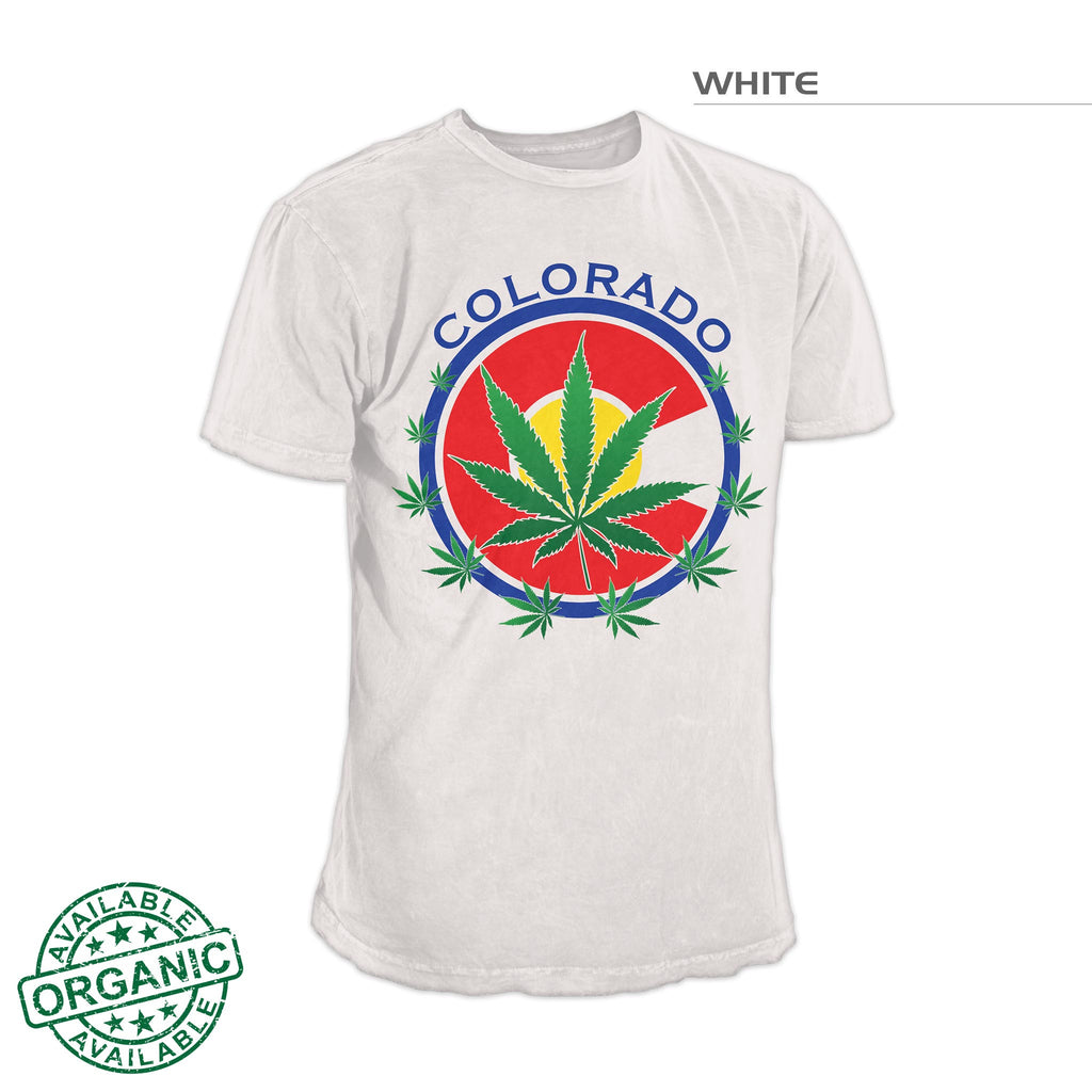 Colorado Marijuana Leaf Seal Shirt – White