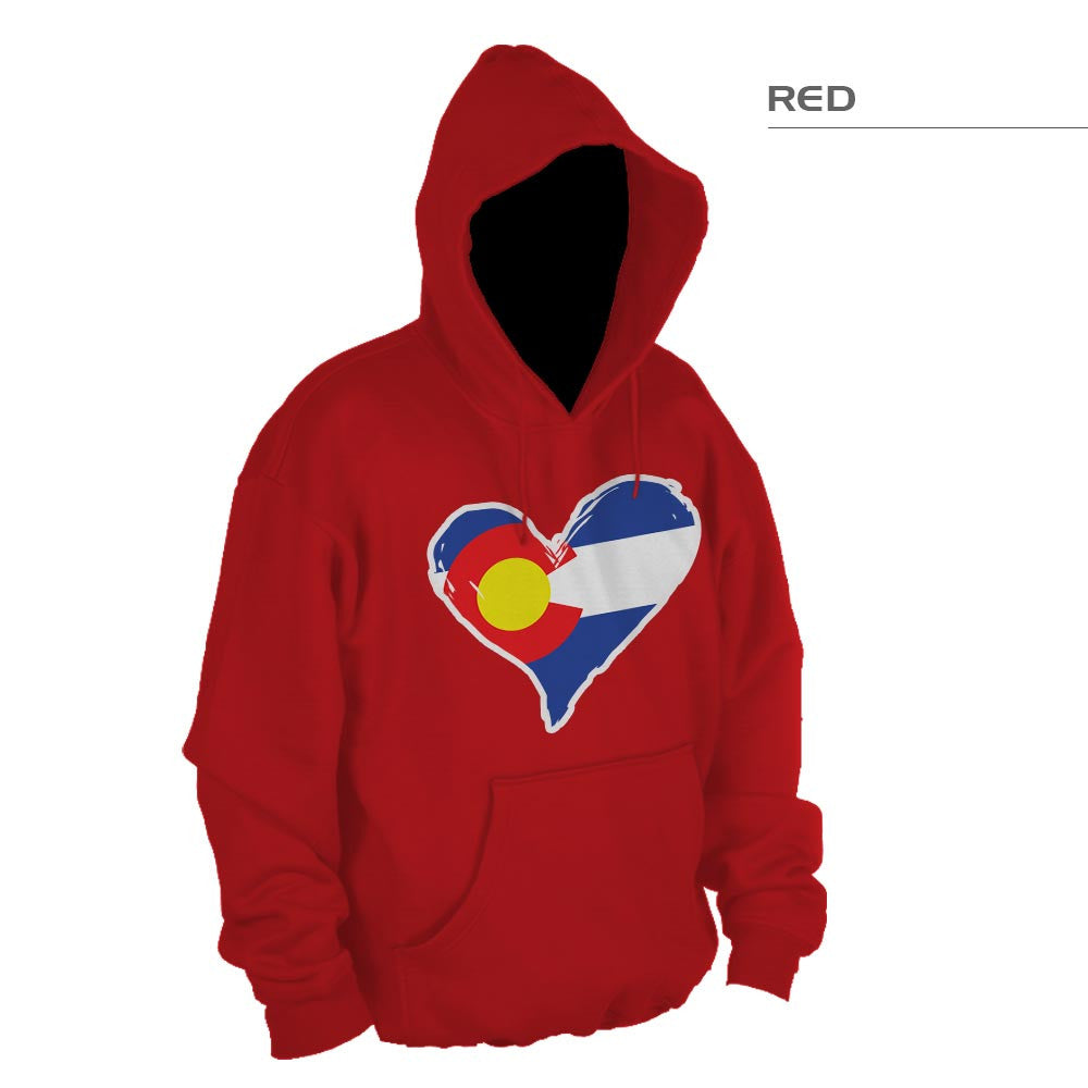 CO Heart Pullover Sweatshirt – Red
