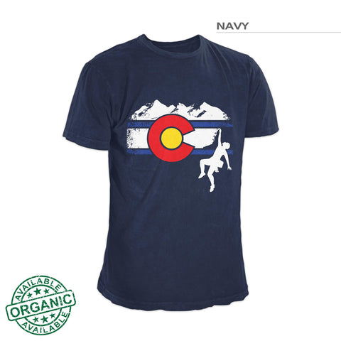 Colorado Flag Rock Climbing Shirt