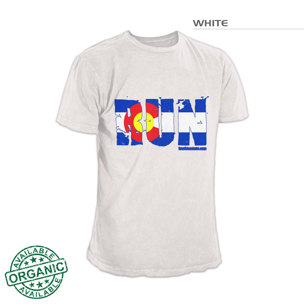 Colorado Flag Run Shirt – White