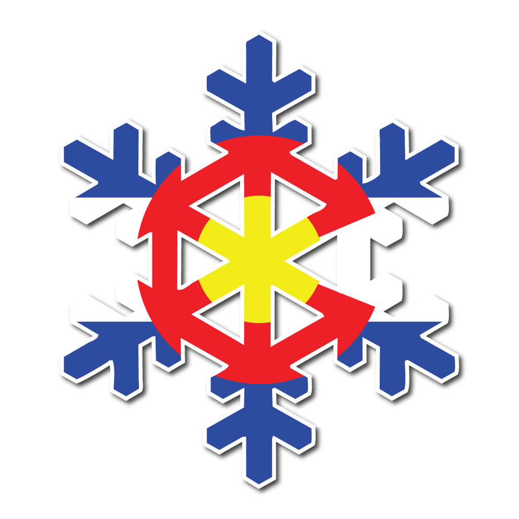 Colorado Flag Snowflake Decal