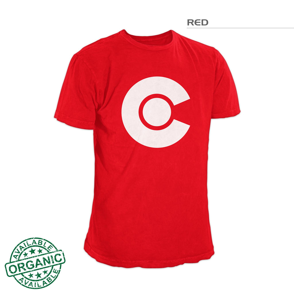 Colorado Flag Shirt White Logo – Red