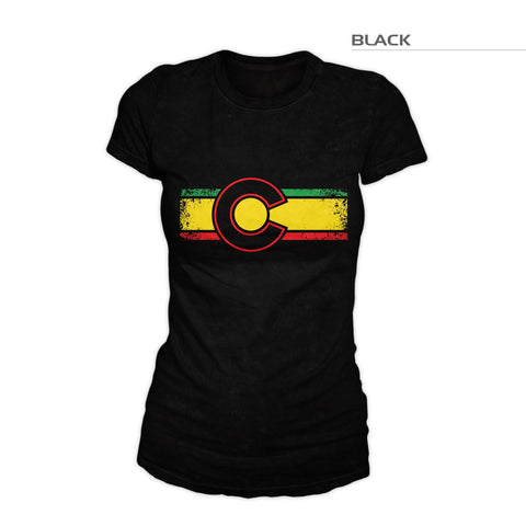 Women's Colorado Flag Reggae Shirt