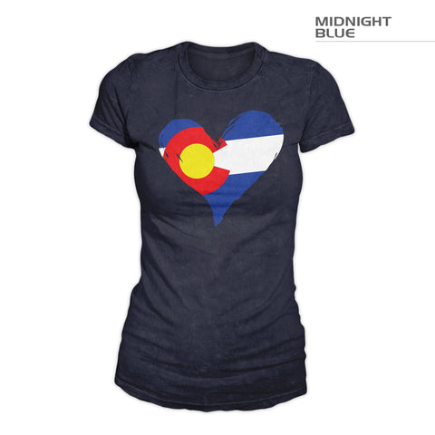 Colorado Flag Heart Shirt