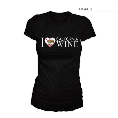 I Love California Wine Shirt — Women's
