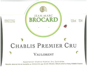Brocard Chablis Vaulorent 1er Cru 2016
