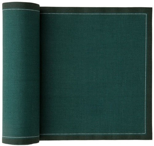 MYdrap Cotton Cocktail Napkins - English Green - roll of 50