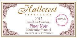 Hallcrest Pinot Noir Meadowridge Vineyard 2013