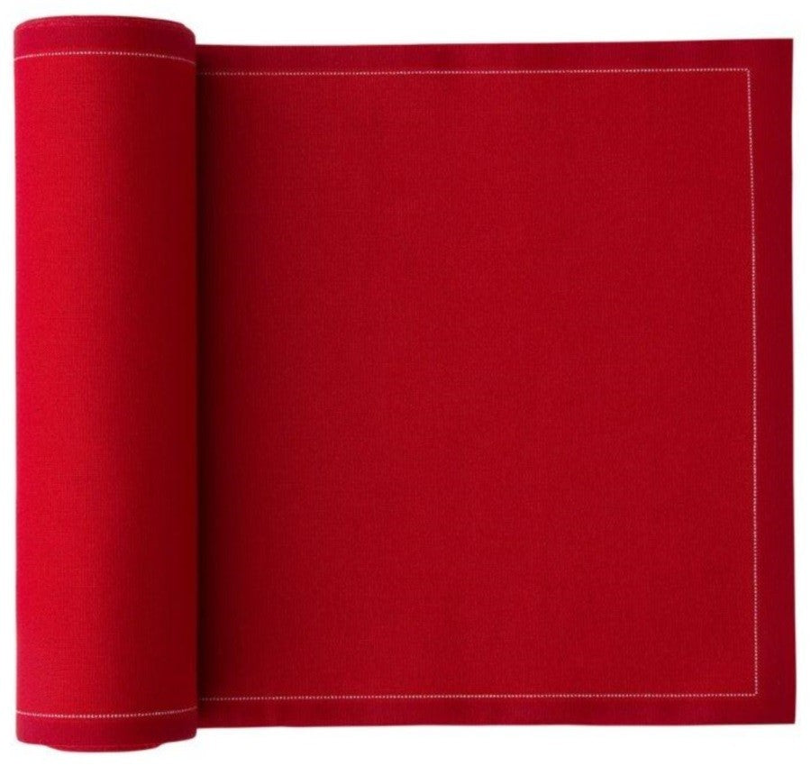 MYdrap Cotton Cocktail Napkins - Lipstick Red - roll of 50