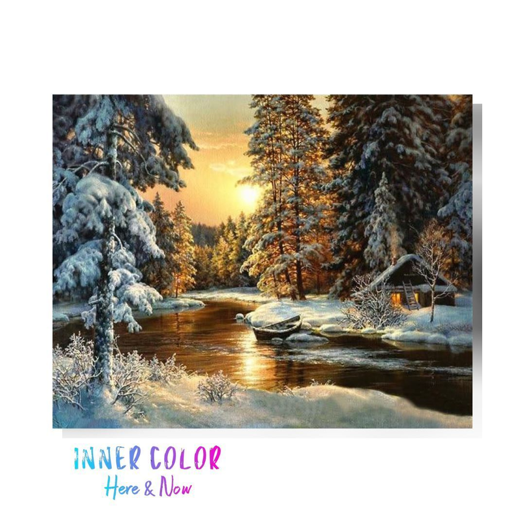 """Morning Snow"" Paint by Numbers - Inner Color™ Inner Color"