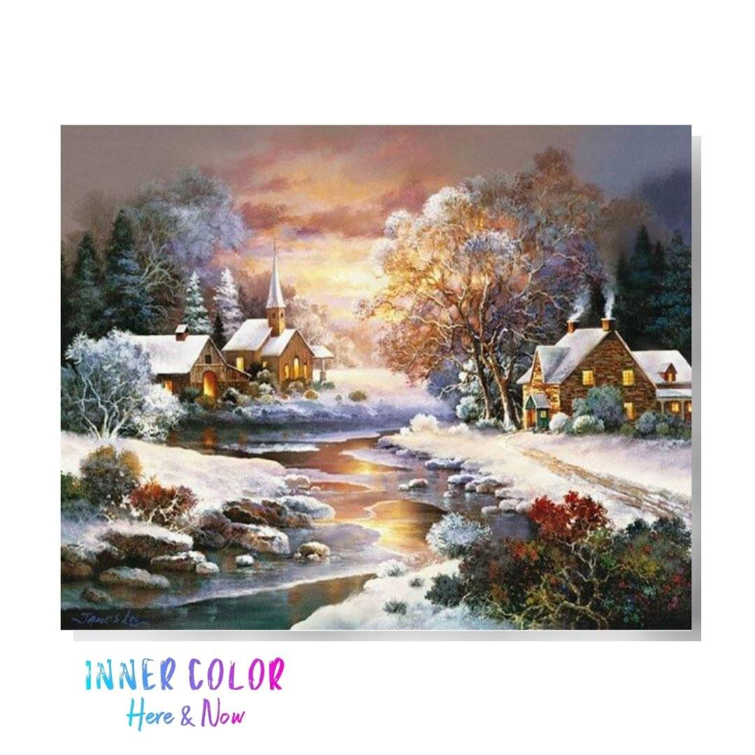 """Christmas Sunrise"" Paint by Numbers - Inner Color™ Inner Color"
