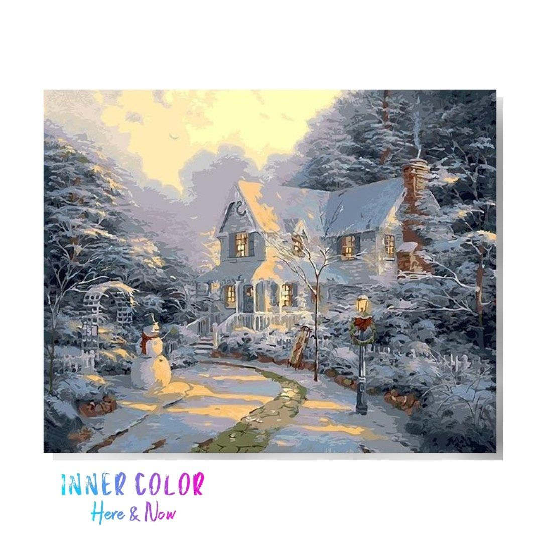 """Day Before Christmas"" Paint by Numbers - Inner Color™ Inner Color"