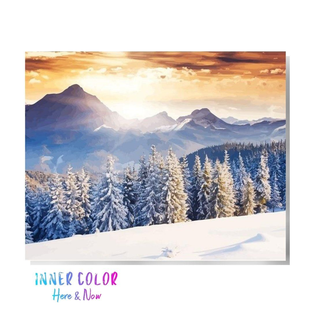 """Colorado Christmas"" Paint by Numbers - Inner Color™ Inner Color"