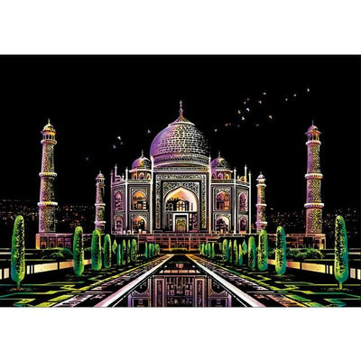Scratch Art The Inner Color Taj Mahal