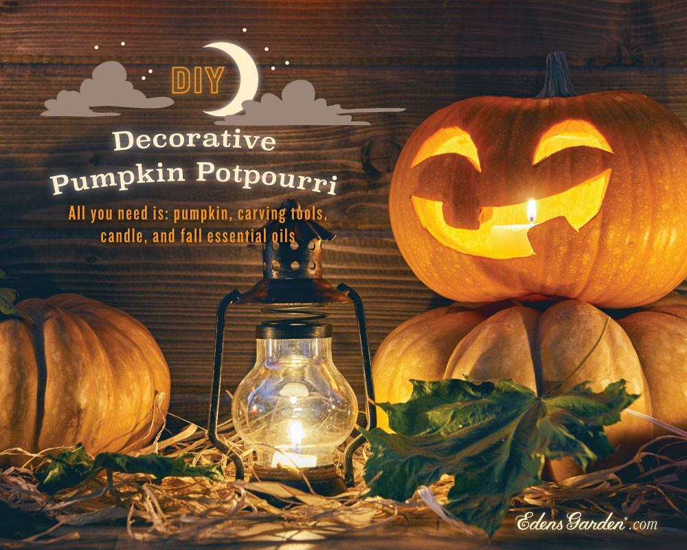 Diy decorative pumpkin potpourri