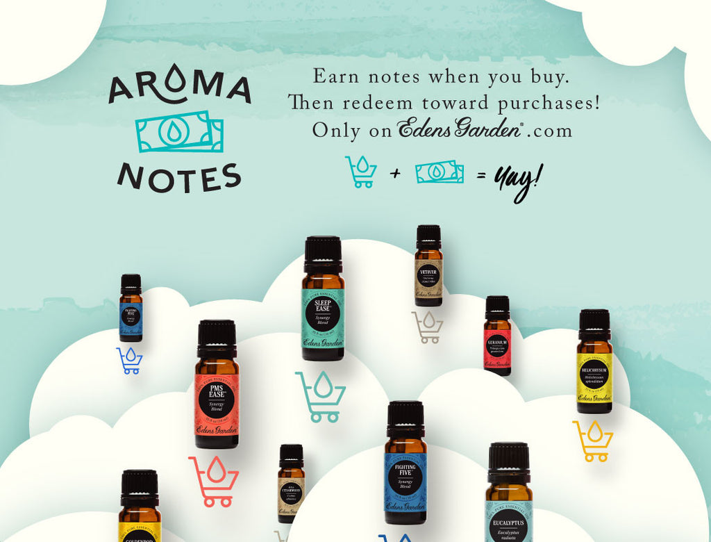 Aroma notes get edens garden rewards now Edens garden essential oils coupon