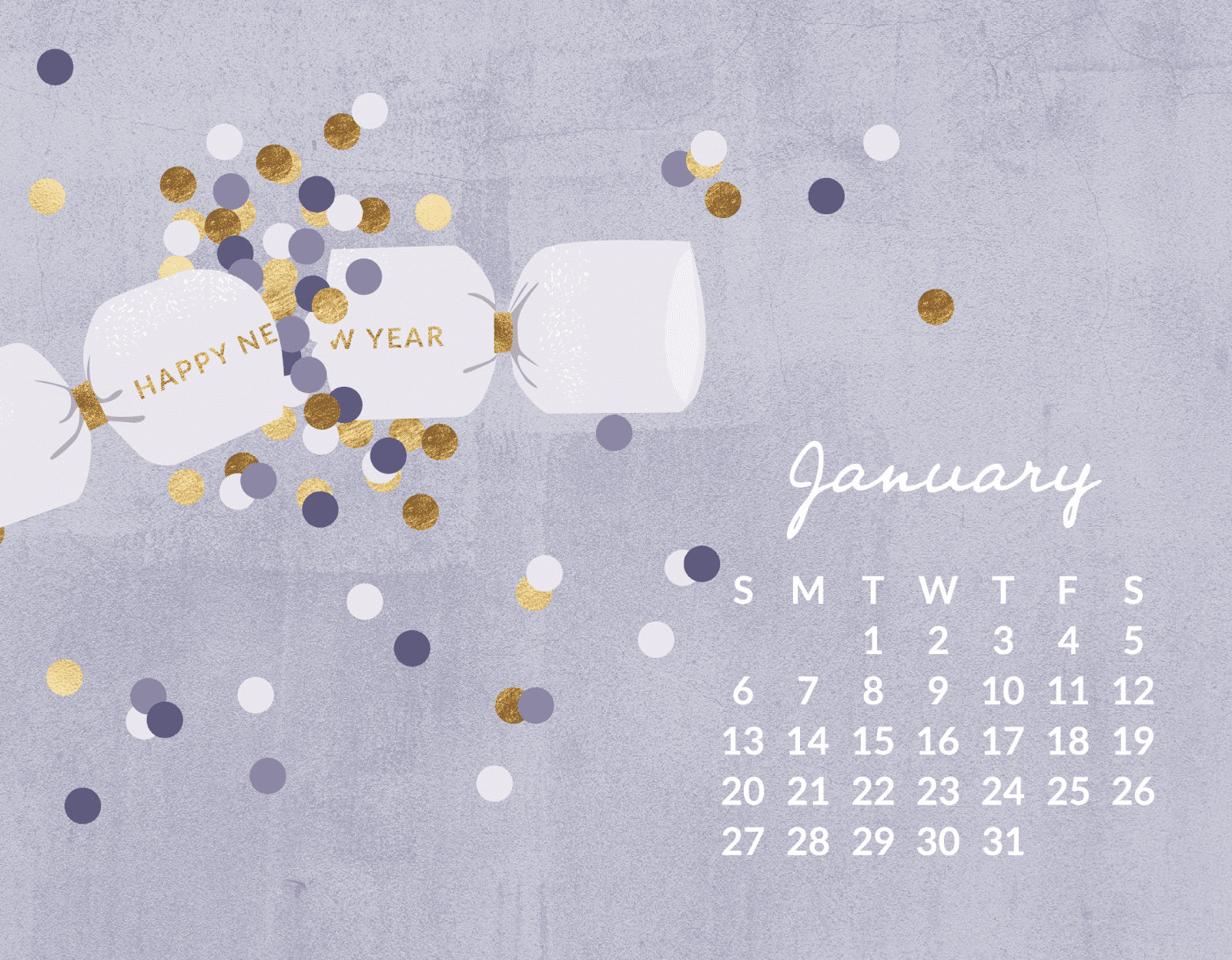 Free January 2019 Calendar Wallpaper