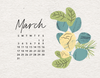 Free March 2019 Calendar Wallpaper