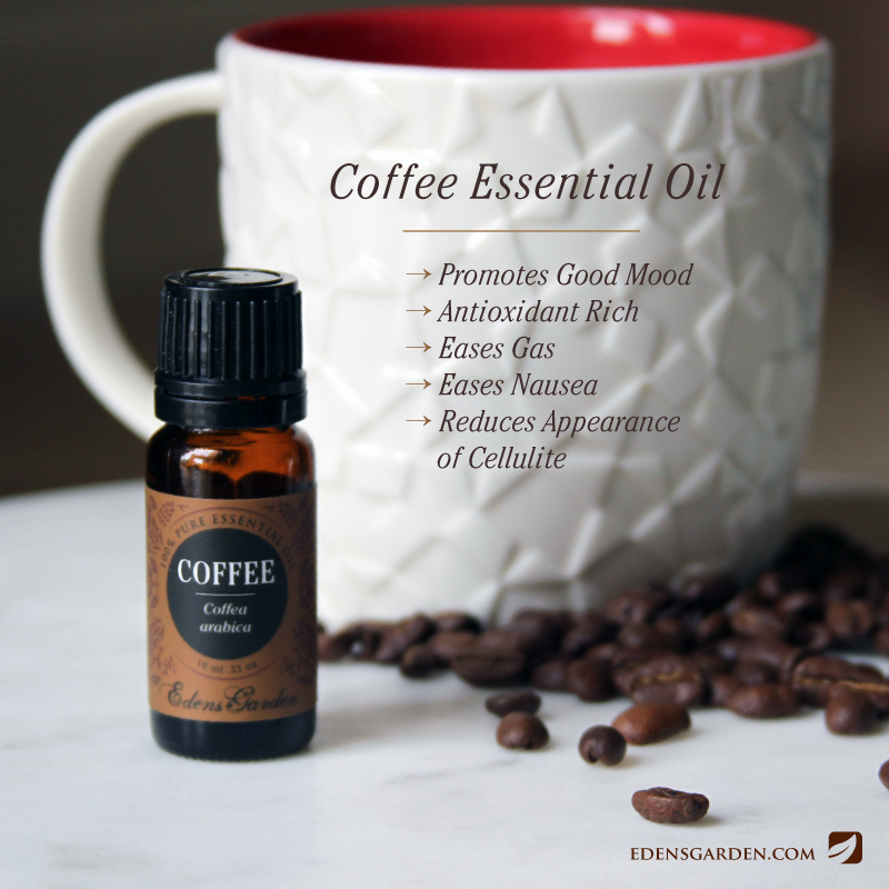Ways to use Coffee essential oil by Edens Garden