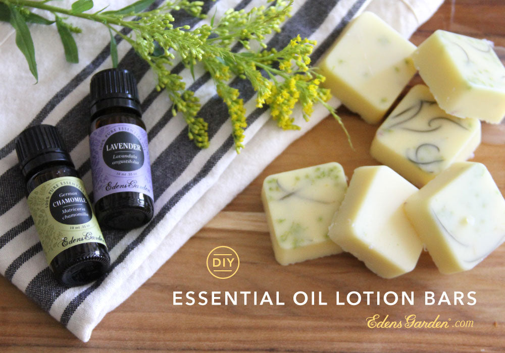 DIY Essential Oil lotion bar by Edens Garden