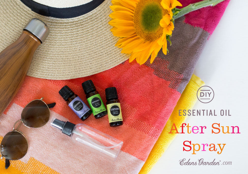 Essential Oil after sun spray recipe by Edens Garden