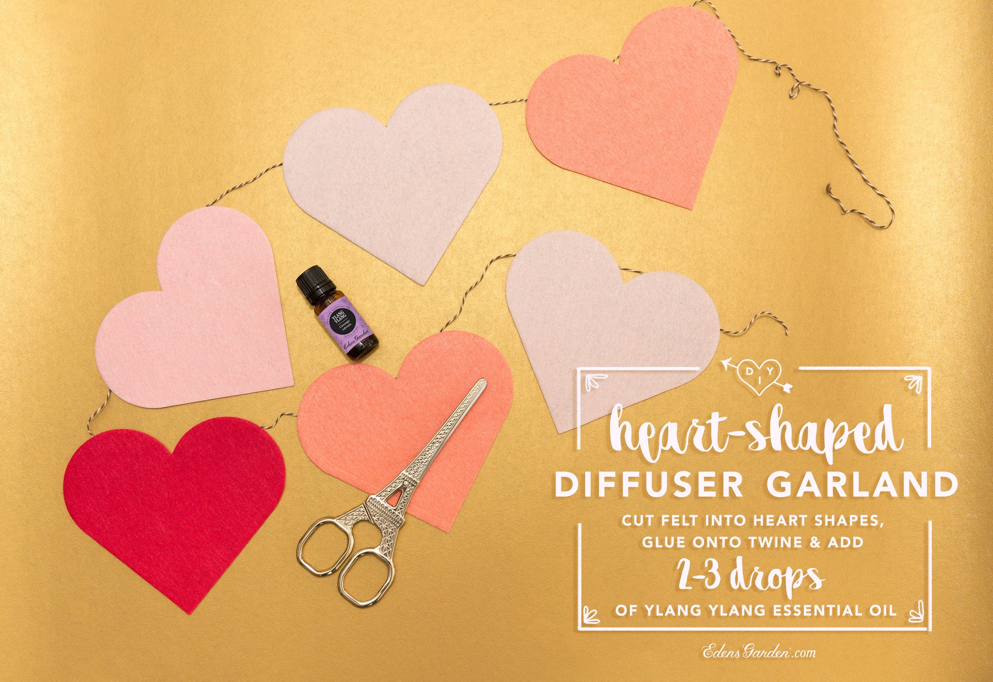 DIY heart felt garland