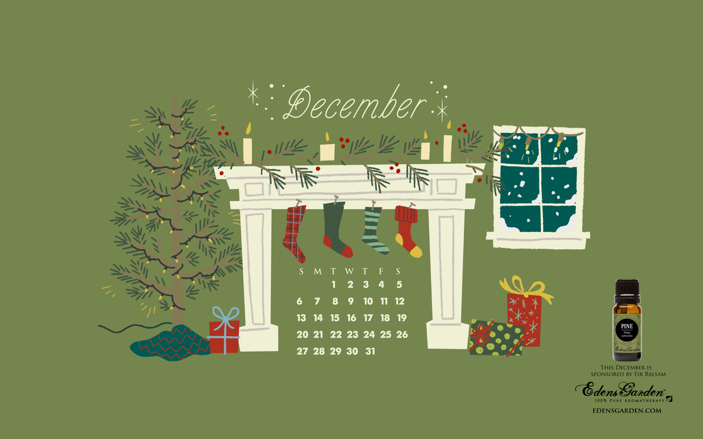 Edens Garden - Free December Desktop Wallpaper Calendar