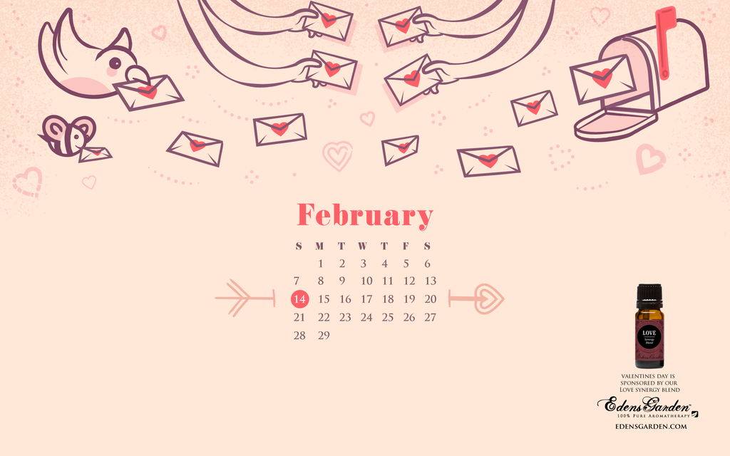 Freebie February Desktop Calendar