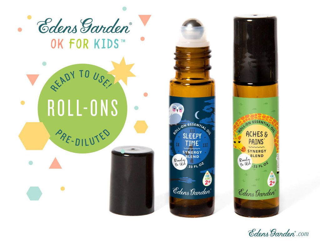 Edens Garden now offers all OK For Kids blends in prediluted roll-ons