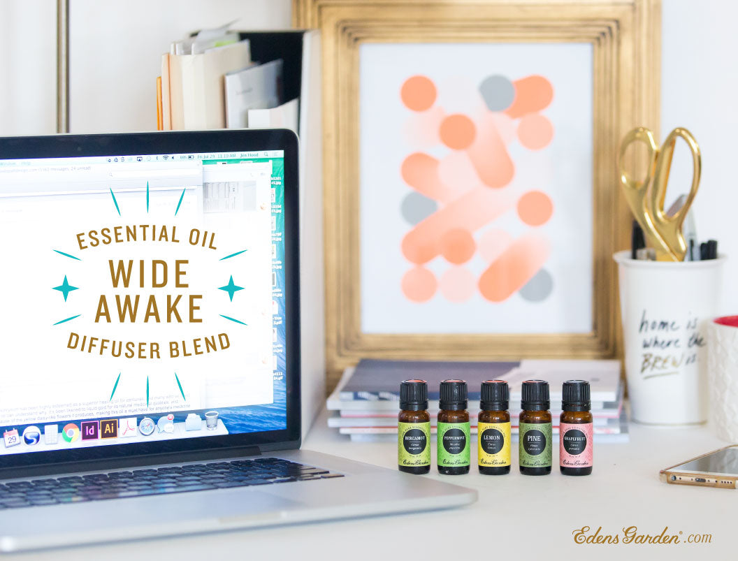 Wide Awake work essential oil blend recipe by Edens Garden