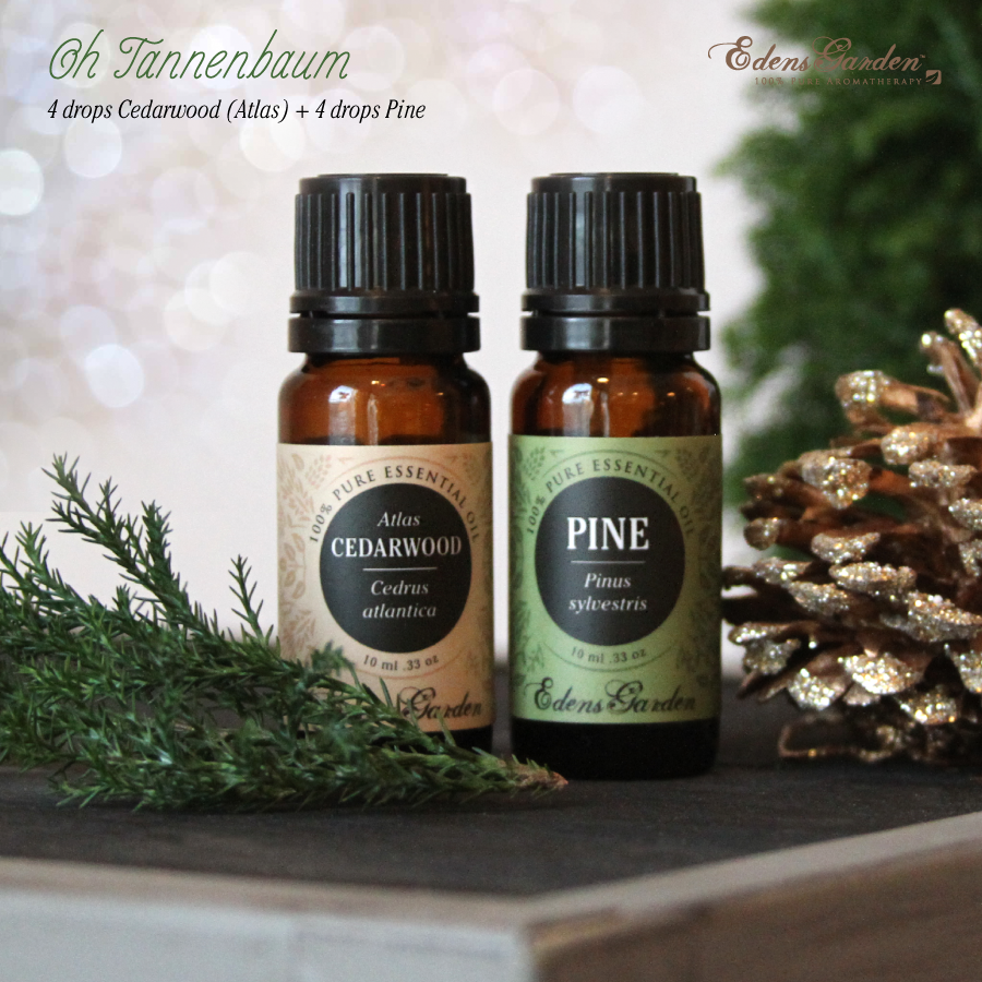 Christmas tree essential oil holiday diffuser blend recipe by Edens Garden