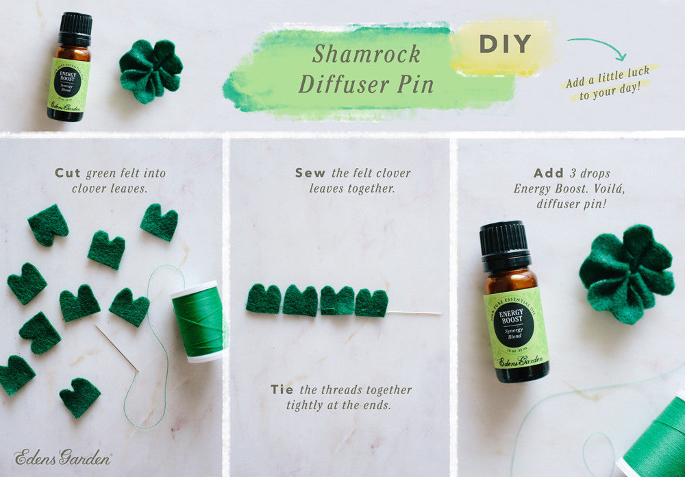 Shamrock pin DIY