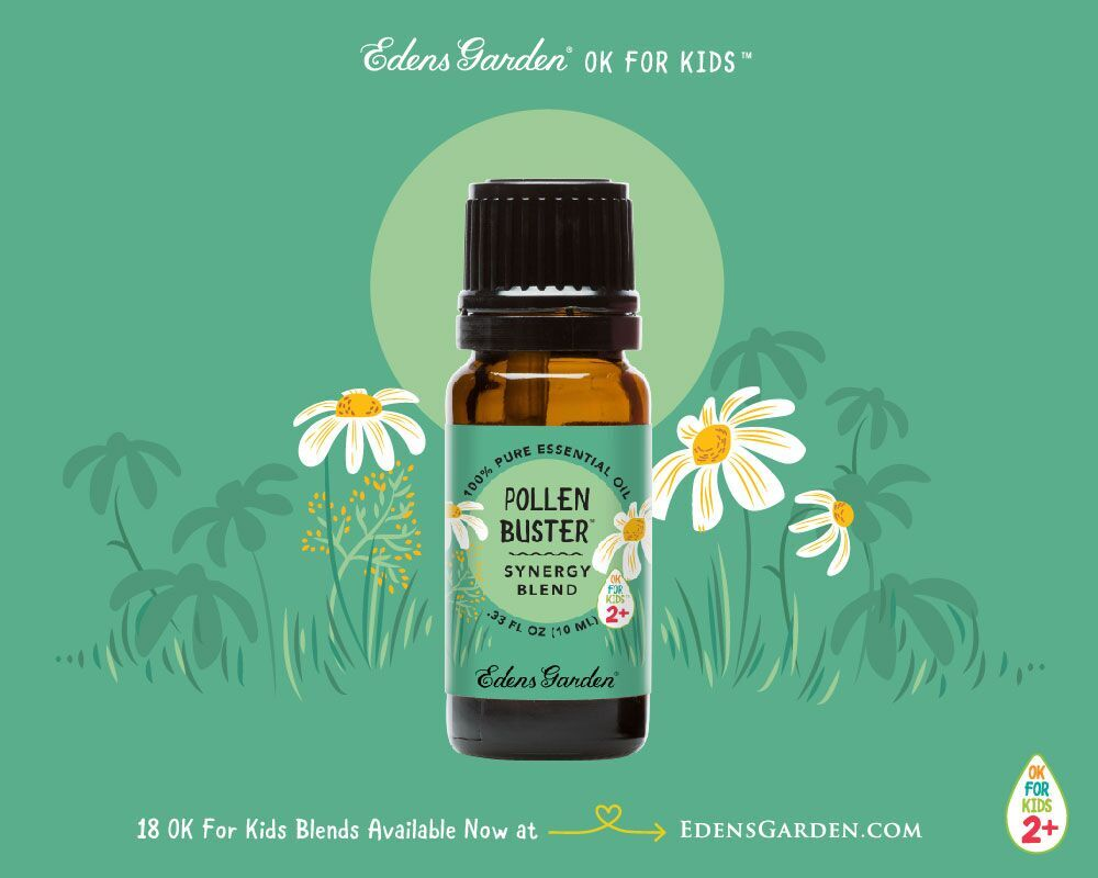 Pollen Buster OK For Kids blend will help your little ones combat allergies