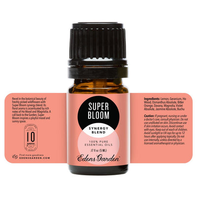 Super Bloom Anniversary Blend at Edens Garden. Synergy essential oil blend, floral aroma