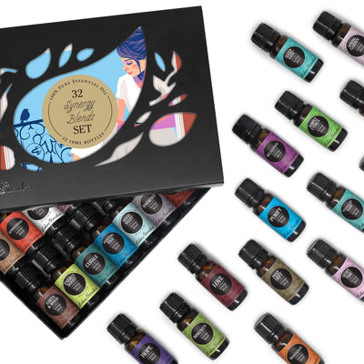 32-Bottle Essential Oils Gift Set by Edens Garden - Inside Box View