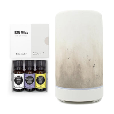 Home Aroma Essential Oil 3 Set and Ultrasonic Diffuser all together in a set by Edens Garden