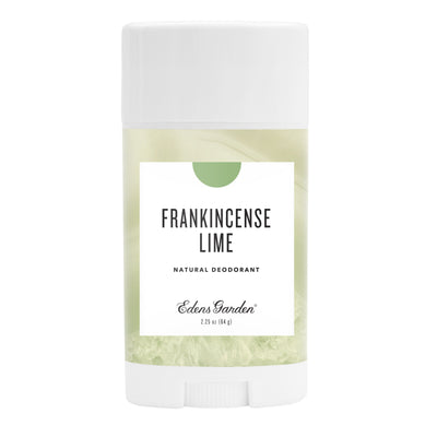 Frankincense Lime Natural Essential Oil Deodorant with forest and citrus by Edens Garden