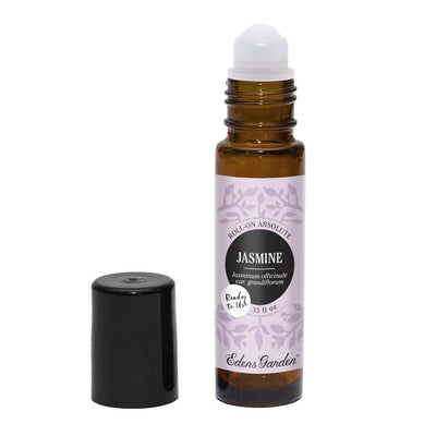 Roller ball of 10ml Jasmine essential oil absolute roll-on for improved complexion by Edens Garden
