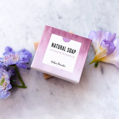 Lavender Magnolia Natural Bar Soap