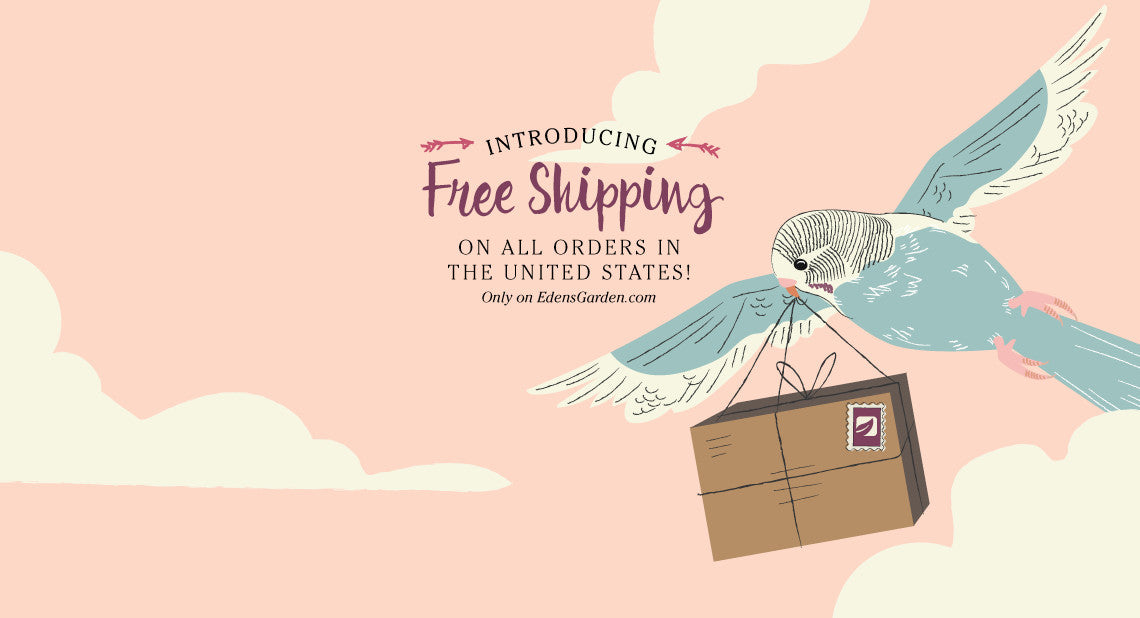 Edens Garden essential oils now offers free shipping in the United states!