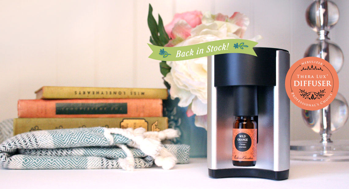 Edens Garden's Thera Lux Nebulizer Diffuser is back in stock!