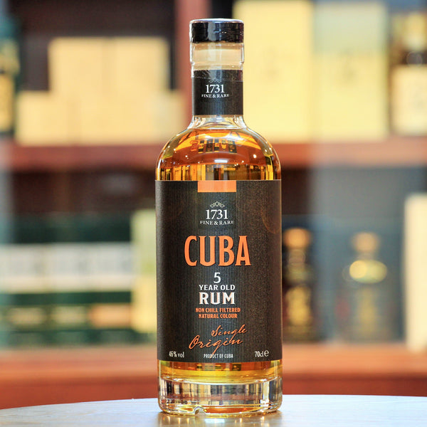 Cuba 5 Year Old Rum, The blends included in this 5 year aged Rum captures all the authentic flavours of Cuba made in traditional pot stills from Cuban Rum Distilleries.
