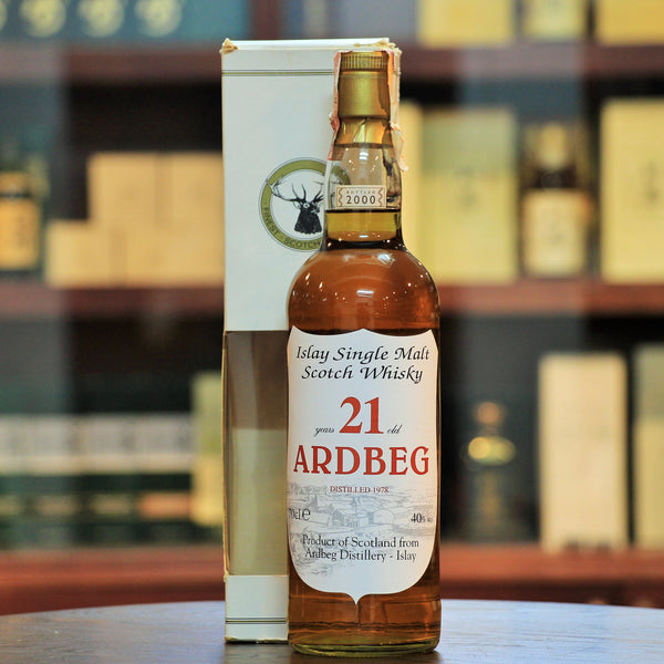 ardbeg 21 islayDistilled in 1978. Bottled in 2000. Rare & Collectible bottling by Gordon & MacPhail under the crest label of Sestante Import. Rated 90+ on Whiskybase. single malt scotch whisky,