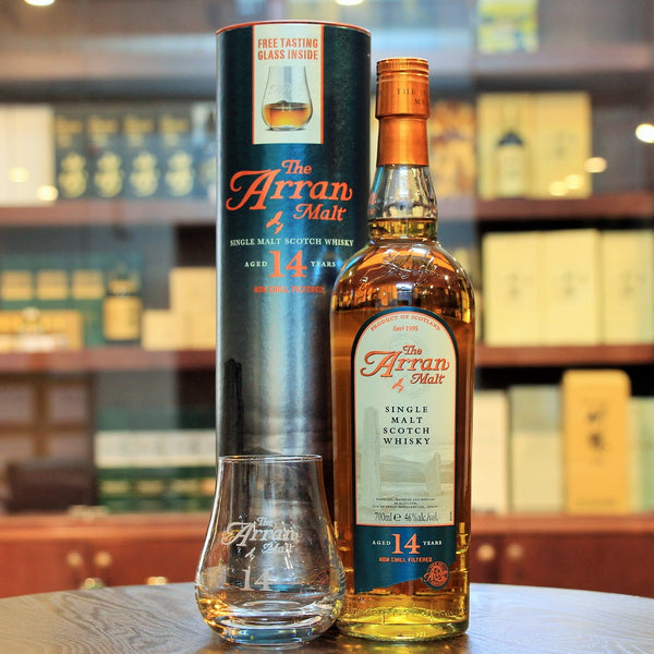 A single malt scotch whisky from Isle of Arran. This comes with an Arran Whisky tasting glass and makes for an excellent gift as well. From Mizunara The Shop, The whisky and liquor and spirits store in Hong Kong